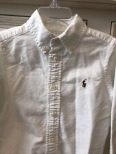 Boys Ralph Lauren Shirt White Oxford Size 5 Euc School Uniform