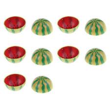 Ensemble de vaisselle de bol de pastèque miniature 10pcs pour 1/6 maison