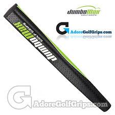 JumboMax Mid Jumbo Pistol Putter Grip - Black / Lime Green / White + FREE Tape