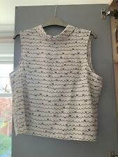 Cute Miss Selfidge Blouse Cream Navy With Bow Design Size 12