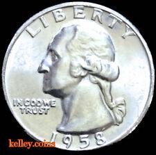 1958-D Washington Silver Quarter BU