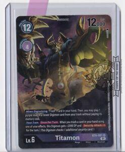 Titamon Alt Art BT6-081 SR Double Diamond Digimon TCG