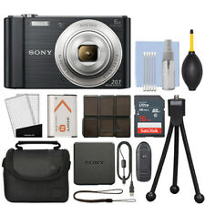 Sony Cyber-shot DSC-W810 20.1MP Digital Camera 6x Optical Zoom Black + 16GB Kit