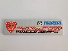 New Brushed Aluminium Mazda Mazdaspeed Performance Accessories Car badge RX8