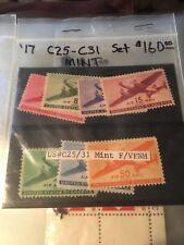 Scott C25 C26 C27 C28 C29 C30 C31 6 thru 50-cent Airmail mint condition stamps