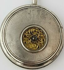 French silver verge fusee open balance wheel pocket watch