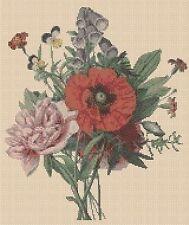 Flores cross stitch chart Ramo Posy 176-flowerpower 37-UK -... Gratis Reino Unido P&p..