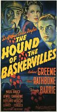 THE HOUND OF THE BASKERVILLES Movie POSTER 11x17 B Basil Rathbone Nigel Bruce