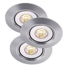 Lot de 3 LED 230V spot encastré einbaulmape encastrement au Plafond