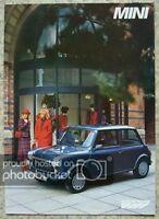 MINI E & MAYFAIR Car Sales Brochure 1986 #EO263 ITALIAN TEXT Austin Rover