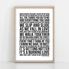More details for depeche mode just can't get enough song lyrics poster print wall art