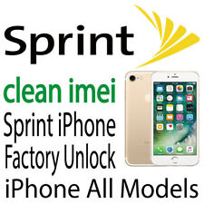 USA Sprint iPhone 7 7+ 6 6+ 5S 5C 5 SE Plus Unlock Service Clean Only