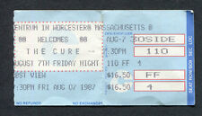 1987 The Cure Concert Ticket stub Kiss Me Tour Just Like Heaven Worcester MA