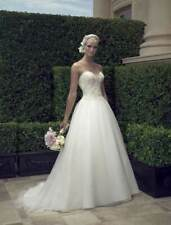 NEW! Casablanca 2191 Sweetheart Ballgown Strapless Ivory Wedding Dress 10 $1.2K