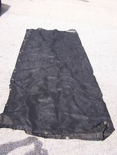 8 x 10' Black Shade Screen Net Mesh Netting Tarp Canopy Cover Sun Sail Block
