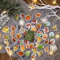 50Pcs/Box Christmas Scrapbooking Paper Stickers DIY Planner Diary Album Decor H