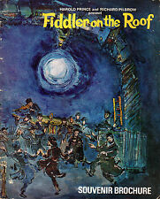 "FIDDLER ON THE ROOF, WITH LEX GOUDSMIT AS ""TEVYE"" - SOUVENIR BROCHURE (1969)"