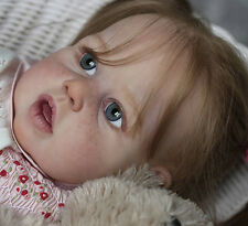 "Violet By Jannie De Lange New Reborn Toddler Doll Kit @25.5""@Body Included"