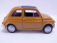 27615 | Welly Fiat Nuova 500 ockergelb 1957-1975 Modellauto mit Antrieb 1:28 Neu