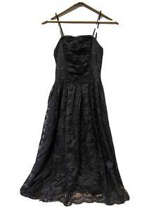 FRANCOISE Vintage Black Designer Dress Strapless Size 8  Formal Cocktail