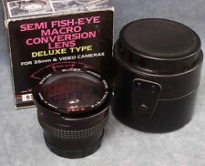 SAKAR SEMI FISH-EYE MACRO CONVERSION LENS FOR 35MM & VIDEO CAMERAS