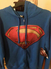 Official Superman Hoodie DC Comics Adult SMALL Hoodie Full Zip NWT
