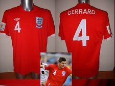 ENGLAND GERRARD NUOVA CAMICIA JERSEY FOOTBALL SOCCER UMBRO ADULTI XL BNWT Liverpool