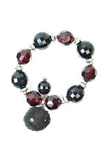 Disco Ball Bracelet Red&Black Beads Retro Pompom Fast Delivery New Trend (ST52)