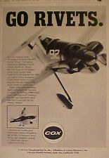 1971 Cox 409 Gas-Line Engine Formula 1 Racer Model Toy Airplane~ Hobby Kits Ad