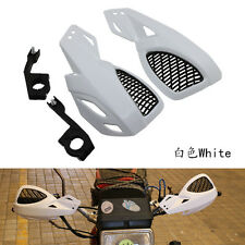 White 7/8'' 1 1/8'' Hand Guards Handguard Street Bike Chopper Touring Cruser ATV