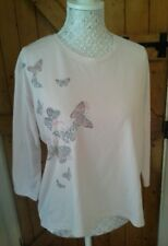 LOVELY TAMMY GIRL PINK AND WHITE BUTTERFLY TOP WITH BACK DETAIL AGE  12-13 YEARS