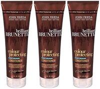3 Pack -John Frieda - Brilliant Brunette Colour Protecting Conditioner - 8.45 Oz