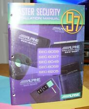 ALPINE SEC-8059-8058-8049-8027-8205⭐Mobile SECURITY SYSTEMS⭐INSTALL Manual'97🚨⭐