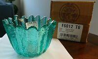 NIB Fenton Art Glass Robin's Egg Blue PATIO VOTIVE F6012 T6 Candle Holder Bowl