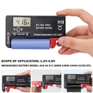 Battery Capacity Tester Volt Checker For 18650 9V 1.5V AA/AAA Cell BT-168 Pro