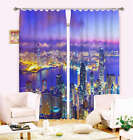 Blue Camouflage Light Water Digital Printing 3D Blockout Curtains Fabric Window