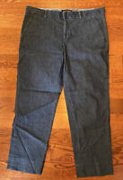 Banana Republic Women's Blue Denim Hampton Fit Cropped Pants Size 8P 8 Petite