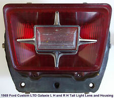 1969 Ford Galaxie 500 Custom LTD Tail Light Assembly P/N's TSDBR-69-FD L-H & R-H