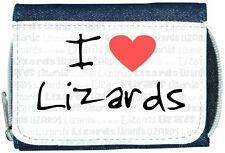 I Love Heart Lizards Denim Wallet