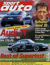sport auto 1/99 1999 Alfa Romeo 155 Audi TT 1.8 T B&B WKR Hohenester VW Lupo Cup