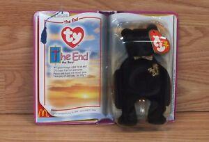 Genuine Mcdonalds Teenie Beanie Babies The End The Bear In Package **NEW-READ**