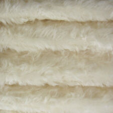 "1/4 yd 340S/C White INTERCAL 5/8"" Medium Density Curly German Mohair Fur Fabric"