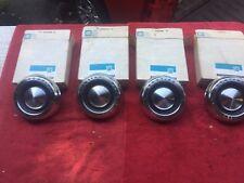 1965 1966 1967 1968 Pontiac NOS 8 Lug Wheel Center Caps Orig GM Boxes Set of 4