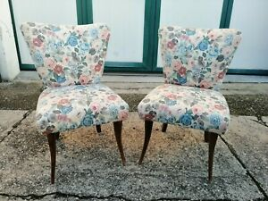 Pair Of Armchairs Fabric Floral Half Xx Century 75 CM (H) Armchair Chair Chairs