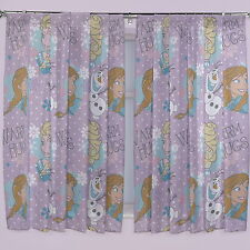 Kids Bedroom Curtains Disney Frozen Window Crystal Drape Panel Girls Pink Color