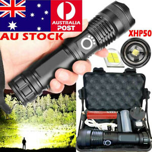 High Power 900000Lumens XHP90 Zoom Flashlight LED Rechargeable Torch Headlamp
