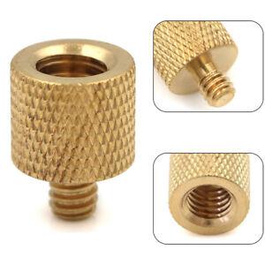 1Pc tripod camera thread screw adapter 3/8 to 1/4 female male converter bra*DE