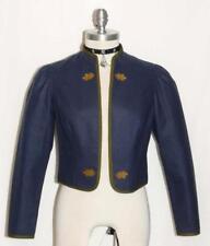 BLUE ~ WOOL Austria Women WINTER Western Riding Dirndl Dress Suit JACKET 38 6 S
