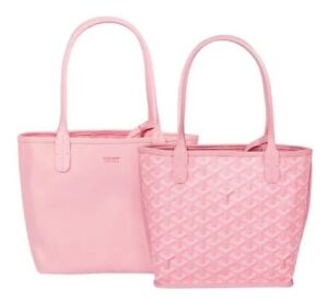 GOYARD Anjou Mini Tote Bag Pouch Pink Reversible Woman Auth New Limited Rare !!