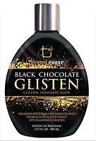 Black Chocolate Glisten Tanning Lotion with Black Chocolate Bronzers. 13.5 fl oz